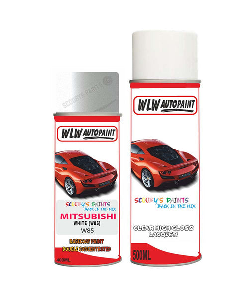 Mitsubishi L200 White W85 Car Aerosol Spray Paint Rattle Can