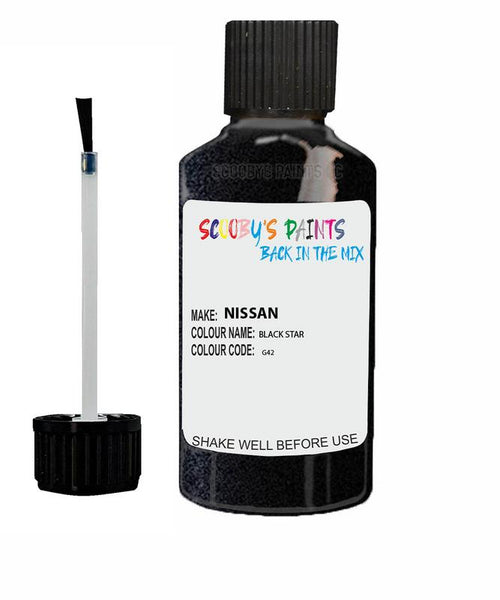 Nissan Micra Black Star Code G42 Touch Up paint