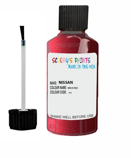 Nissan Murano Brick Red Code Ay4 Touch Up paint