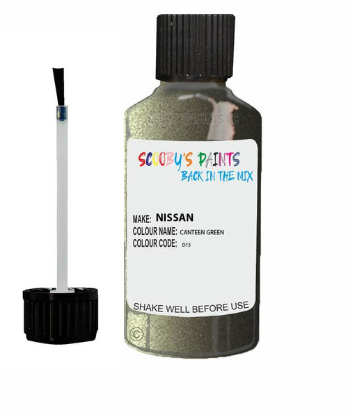 Nissan Pathfinder Canteen Green Code D13 Touch Up paint
