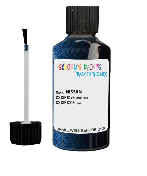 Nissan Note Dark Blue Code Bw9 Touch Up paint
