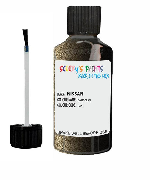 Nissan Xtrail Dark Olive Code Ean Touch Up paint