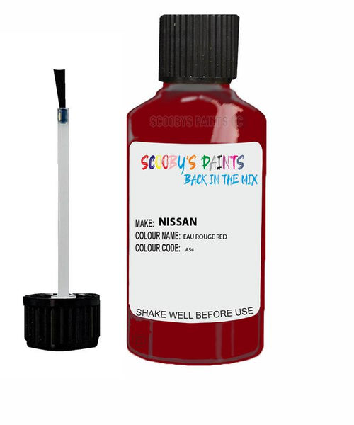 Nissan Micra Eau Rouge Red Code A54 Touch Up paint