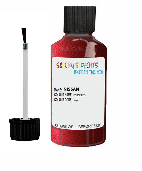 Nissan Qashqai Force Red Code Nah Touch Up paint