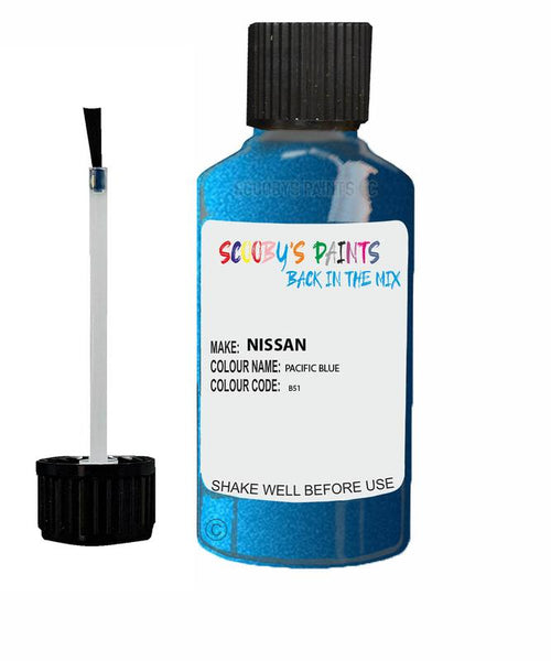 Nissan Micra Pacific Blue Code B51 Touch Up paint