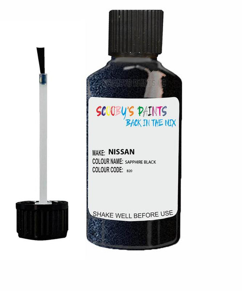 Nissan Micra Sapphire Black Code B20 Touch Up paint