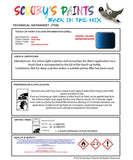 Nissan Murano Berlin Blue Code B53 Touch Up Paint Instructions for use application