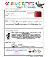 Nissan Navara Brick Red Code Ay4 Touch Up Paint Instructions for use application