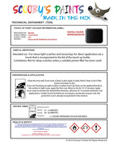 Nissan Navara Cosmic Black Code 732 Touch Up Paint Instructions for use application