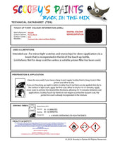 Nissan Juke Super Black Code Kh3 Touch Up Paint Instructions for use application