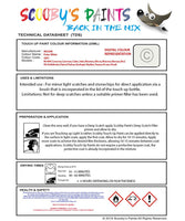 Nissan Juke Polar White Code Qm1 Touch Up Paint Instructions for use application