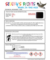 Nissan Juke Rock Black Code Gac Touch Up Paint Instructions for use application