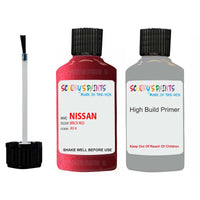Nissan Navara Brick Red Code Ay4 Touch Up Paint Scratch Stone Chip with anti rust primer undercoat