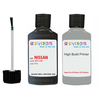 Nissan Navara Hippo Grey Code K26 Touch Up Paint Scratch Stone Chip with anti rust primer undercoat
