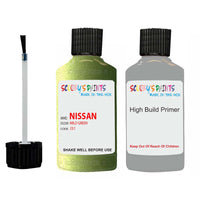 Nissan Micra Mild Green Code J31 Touch Up Paint Scratch Stone Chip with anti rust primer undercoat