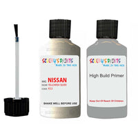 Nissan Maxima Yellowish Silver Code K32 Touch Up Paint with anti rust primer undercoat