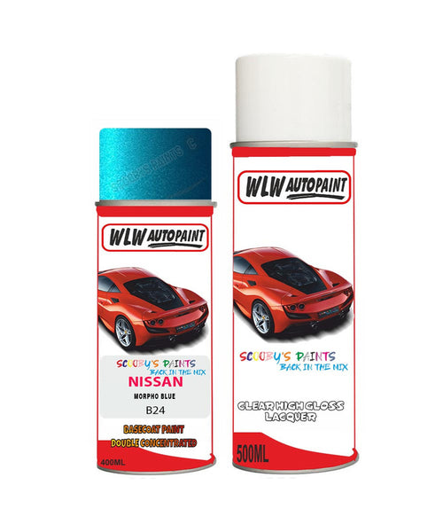 Nissan Navara Morpho Blue Aerosol Spray Car Paint + Clear Lacquer B24