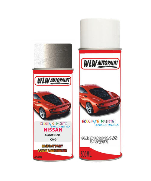 nissan xtrail radium silver aerosol spray car paint clear lacquer kv9Body repair basecoat dent colour