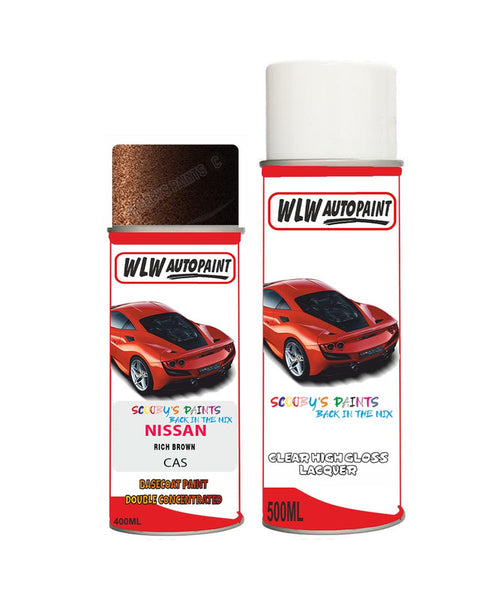 nissan xtrail rich brown aerosol spray car paint clear lacquer casBody repair basecoat dent colour
