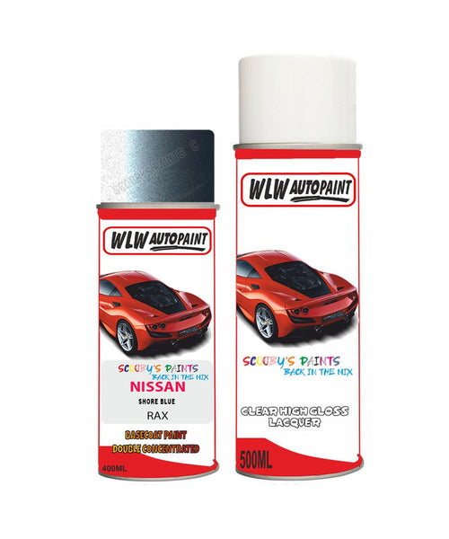 nissan teana shore blue aerosol spray car paint clear lacquer raxBody repair basecoat dent colour