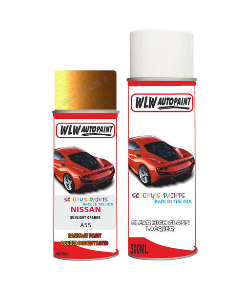nissan teana sunlight orange aerosol spray car paint clear lacquer a55Body repair basecoat dent colour