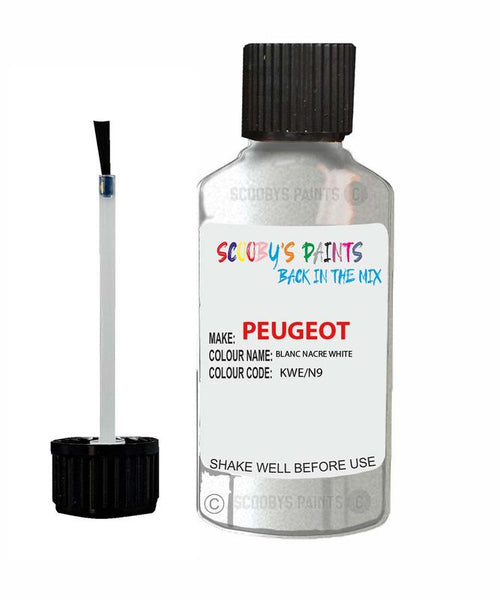 Peugeot Car Touch Up Paint Blanc Nacre White