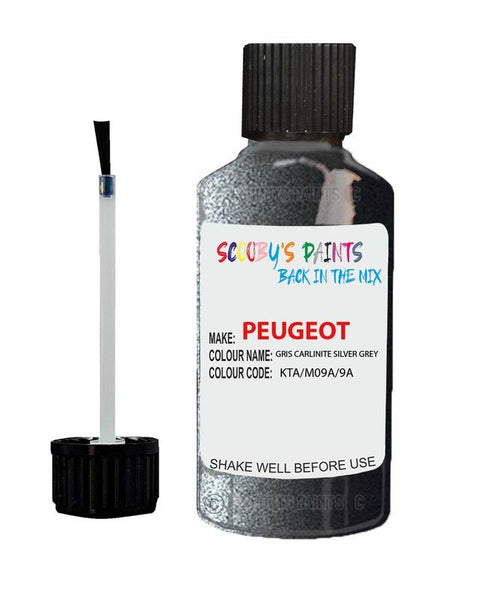 Peugeot Car Touch Up Paint Gris Carlinite Silver Grey