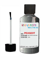 Peugeot Car Touch Up Paint Gris Chateau Silver Grey