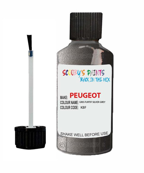 Peugeot Car Touch Up Paint Gris Furtif Silver Grey