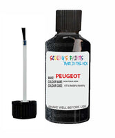 Peugeot Car Touch Up Paint Noir Perla Nera