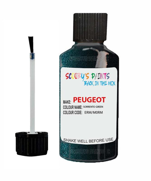 Peugeot Car Touch Up Paint Sorrento Green
