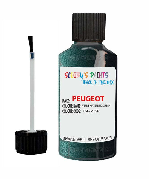 Peugeot Car Touch Up Paint Verde Mayerling Green
