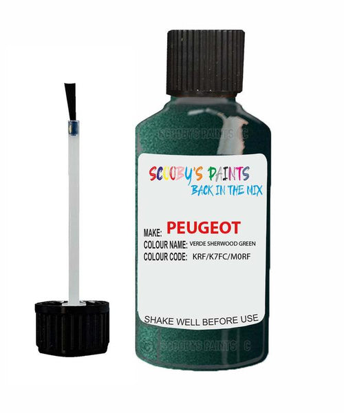 Peugeot Car Touch Up Paint Verde Sherwood Green