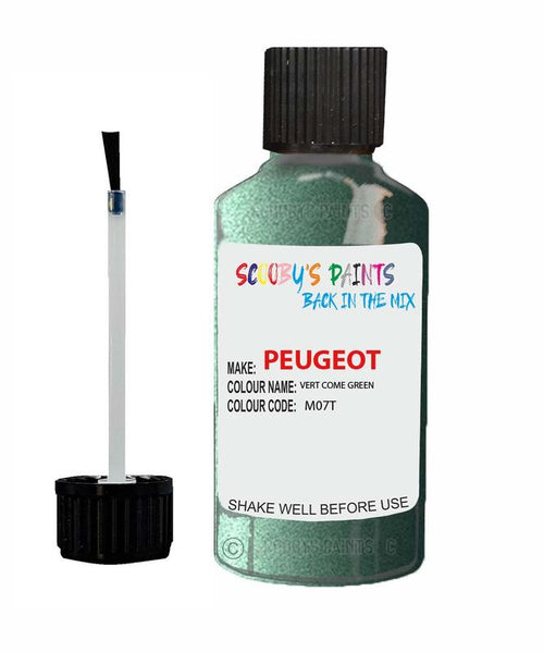 Peugeot Car Touch Up Paint Vert Come Green