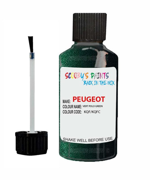 Peugeot Car Touch Up Paint Vert Polo Green