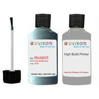 Peugeot Touch Up Paint With Primer Bleu Riviere Blue