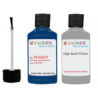 Peugeot Touch Up Paint With Primer Bleu Santorin Blue