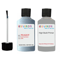 Peugeot Touch Up Paint With Primer Blue Teles Blue