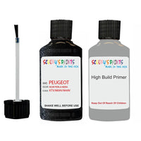 Peugeot Touch Up Paint With Primer Noir Perla Nera