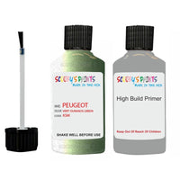 Peugeot Touch Up Paint With Primer Vert Ouranos Green