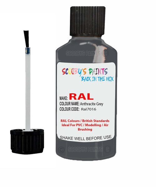 Pvc Plastic Modelling Air Brush Heat Resistant Anthracite Grey Touch Up Paint Ral7016