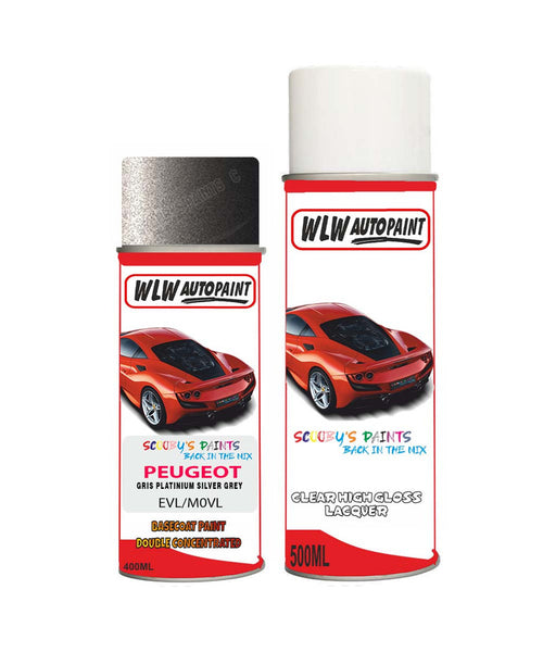 Peugeot 2008 Gris Platinium Silver Grey (Evl) Aerosol Spray Paint And Lacquer 2012-2018