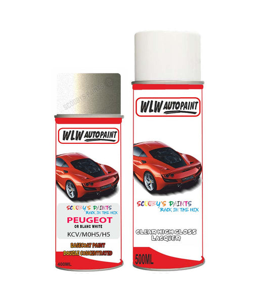 Peugeot 407 Coupe Or Blanc White (Kcv) Aerosol Spray Paint And Lacquer 2003-2010