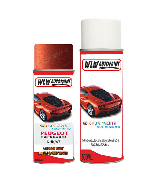 Peugeot Partner Rouge Tourmaline Red (Khk) Aerosol Spray Paint And Lacquer 2007-2018