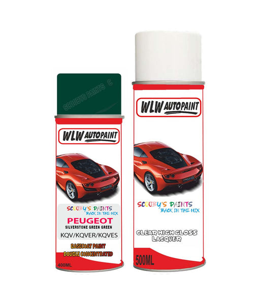 Peugeot Partner Silverstone Green Green (Kqv) Aerosol Spray Paint And Lacquer 1996-2010