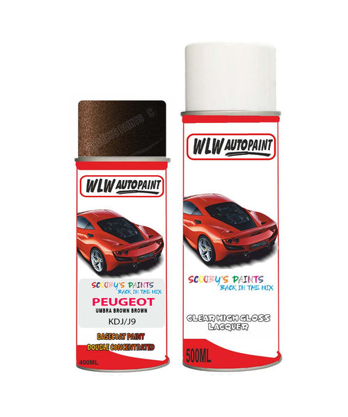 Peugeot 308 Sw Umbra Brown Brown (Kdj) Aerosol Spray Paint And Lacquer 2008-2012