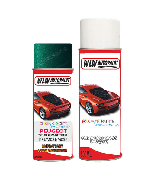 Peugeot 307 Vert Tie Break Iseo Green (Ksj) Aerosol Spray Paint And Lacquer 1996-2007