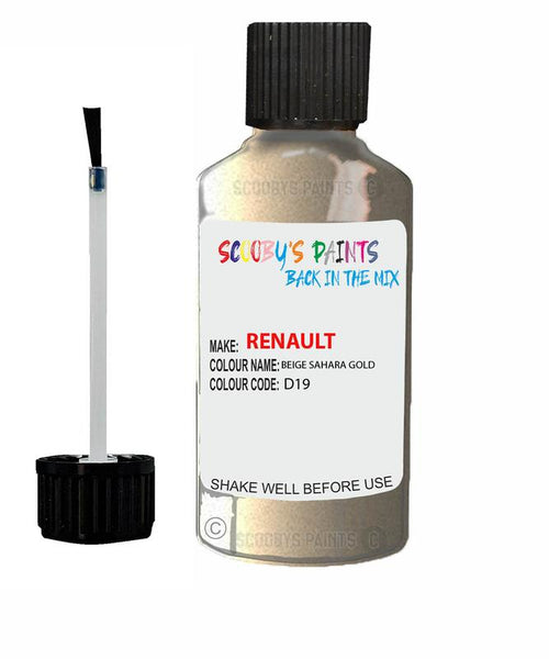 Renault Scratch Repair Car Touch Up Paint Beige Sahara Gold
