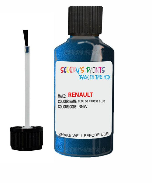 renault megane bleu de prusse blue code rnw touch up paint 2008 2013 Scratch Stone Chip Repair