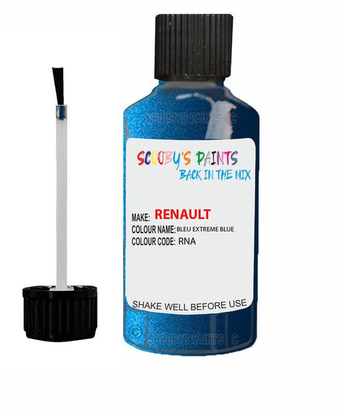renault megane bleu extreme blue code rna touch up paint 2005 2012 Scratch Stone Chip Repair